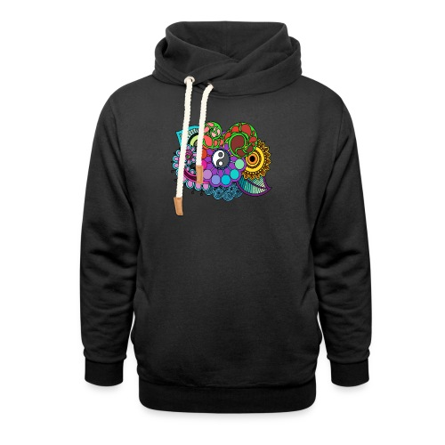 Colour Nature Mandala - Shawl Collar Hoodie