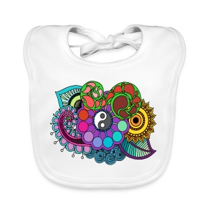 Colour Nature Mandala - Baby Organic Bib