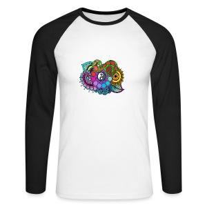 Colour Nature Mandala - Men's Long Sleeve Baseball T-Shirt