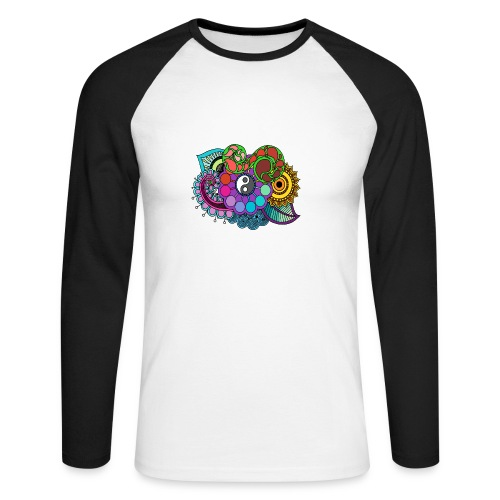 Colour Nature Mandala - Men's Long Sleeve Baseball T-Shirt