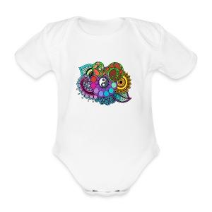 Colour Nature Mandala - Organic Short-sleeved Baby Bodysuit
