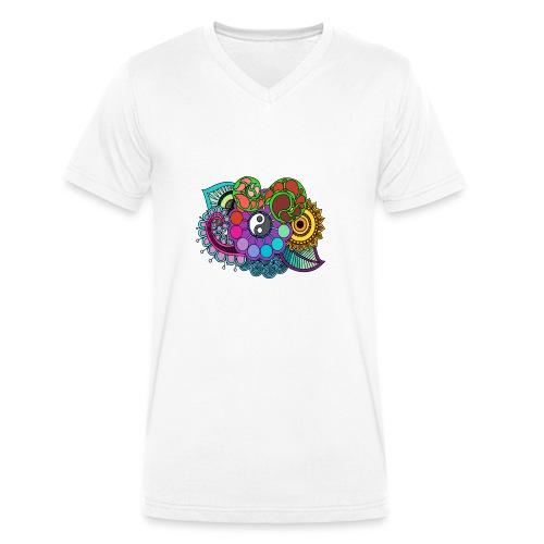 Colour Nature Mandala - Men's Organic V-Neck T-Shirt by Stanley & Stella