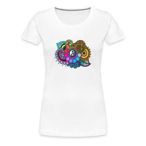 Colour Nature Mandala - Women's Premium T-Shirt