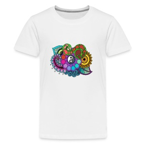 Colour Nature Mandala - Teenage Premium T-Shirt