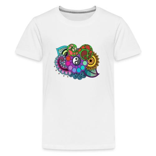 Colour Nature Mandala - Teenage Premium T-Shirt