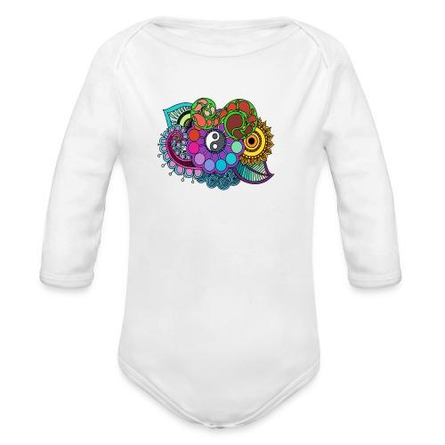 Colour Nature Mandala - Organic Longsleeve Baby Bodysuit