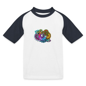 Colour Nature Mandala - Kids' Baseball T-Shirt