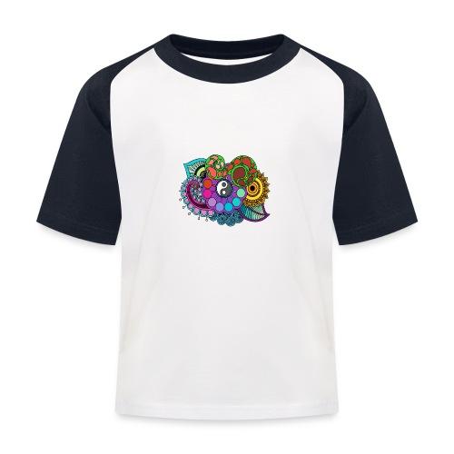 Colour Nature Mandala - Kids' Baseball T-Shirt