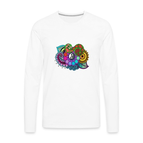 Colour Nature Mandala - Men's Premium Longsleeve Shirt