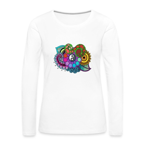 Colour Nature Mandala - Women's Premium Longsleeve Shirt