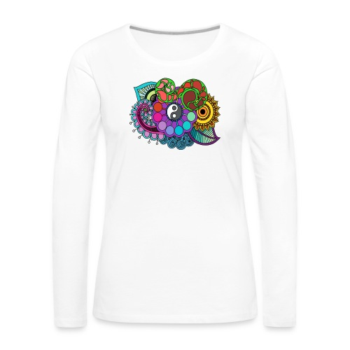 Colour Nature Mandala - Women's Premium Longsleeve Shirt