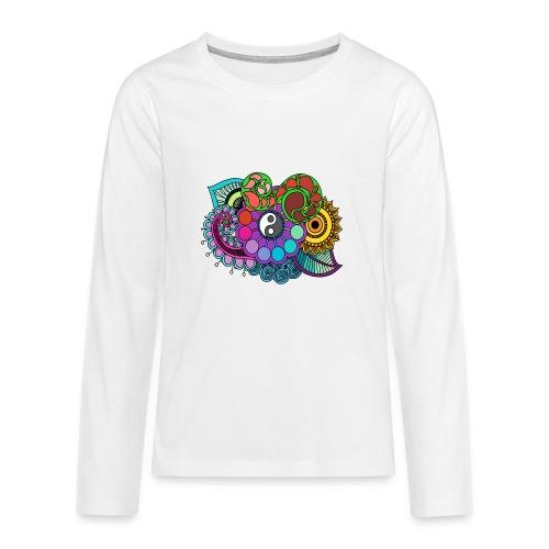 Colour Nature Mandala - Teenagers' Premium Longsleeve Shirt