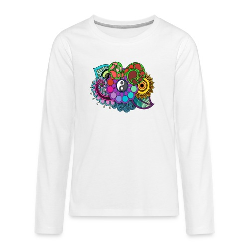Colour Nature Mandala - Teenagers' Premium Longsleeve Shirt