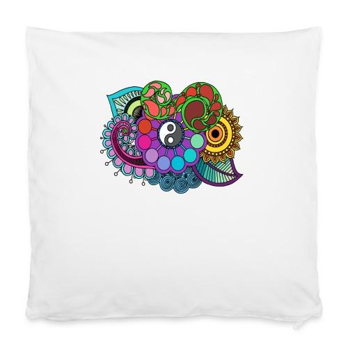 """Colour Nature Mandala - Pillowcase 16"""" x 16"""" (40 x 40 cm)"""