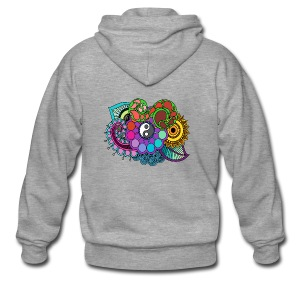 Colour Nature Mandala - Men's Premium Hooded Jacket