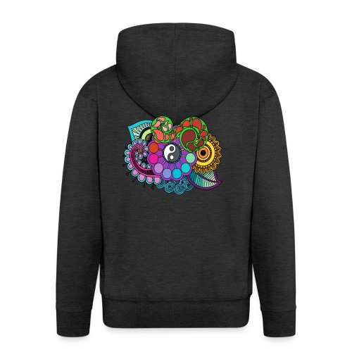 Colour Nature Mandala - Men's Premium Hooded Jacket