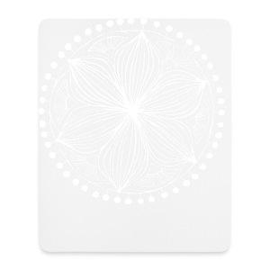 White Frankie Mandala - Mouse Pad (vertical)