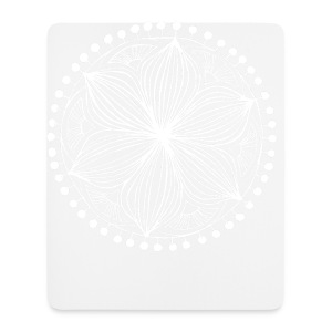 White Frankie Mandala - Mouse Pad (vertical)