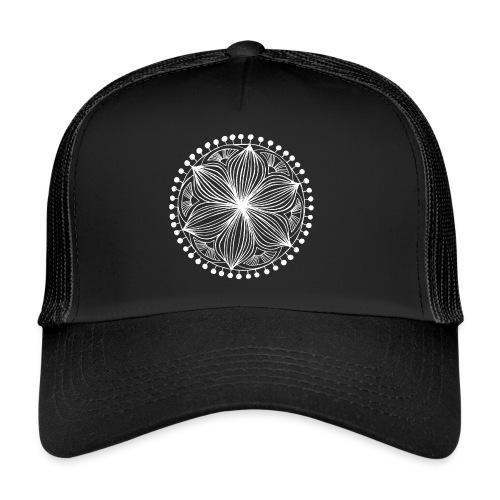 White Frankie Mandala - Trucker Cap