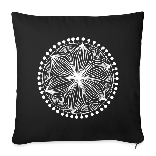 White Frankie Mandala - Sofa pillow cover 44 x 44 cm