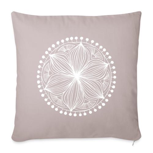 White Frankie Mandala - Sofa pillow cover 44 x 44 cm