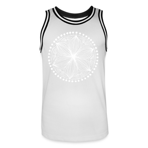 White Frankie Mandala - Men's Basketball Jersey
