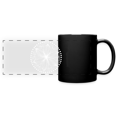 White Frankie Mandala - Full Color Panoramic Mug