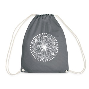 White Frankie Mandala - Drawstring Bag