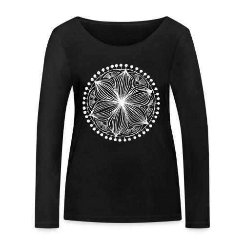 White Frankie Mandala - Women's Organic Longsleeve Shirt by Stanley & Stella