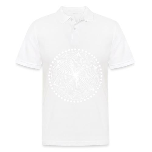 White Frankie Mandala - Men's Polo Shirt
