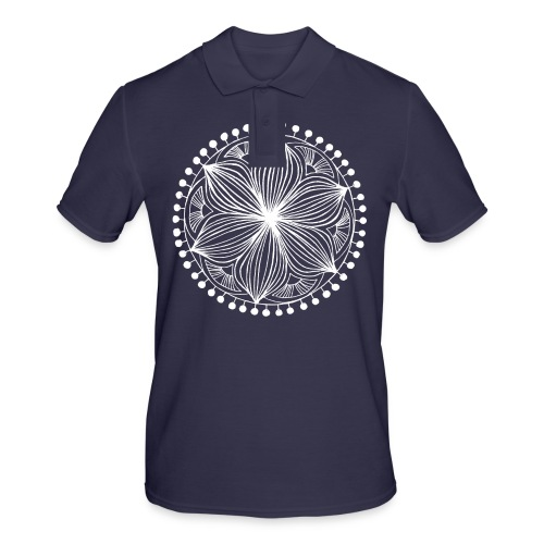 White Frankie Mandala - Men's Polo Shirt