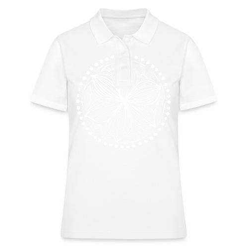White Frankie Mandala - Women's Polo Shirt