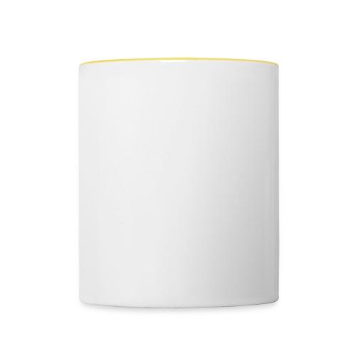 White Frankie Mandala - Contrasting Mug