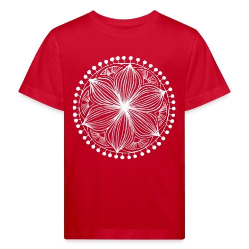 White Frankie Mandala - Kids' Organic T-Shirt