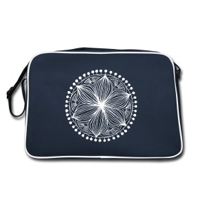 White Frankie Mandala - Retro Bag