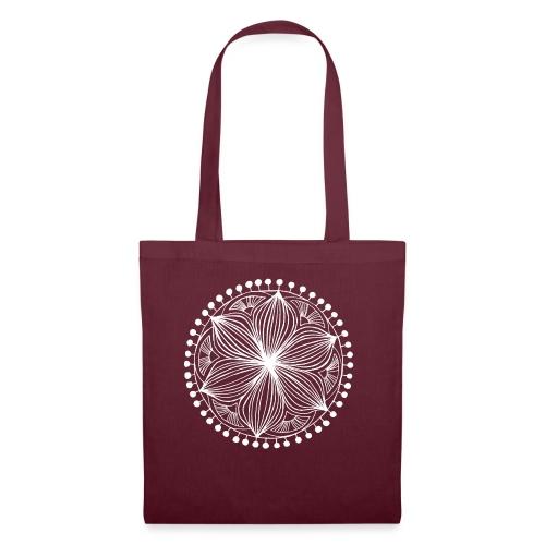 White Frankie Mandala - Tote Bag