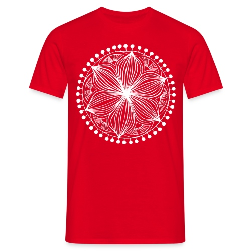 White Frankie Mandala - Men's T-Shirt