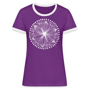 White Frankie Mandala - Women's Ringer T-Shirt