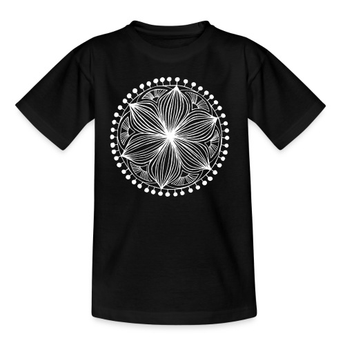 White Frankie Mandala - Kids' T-Shirt