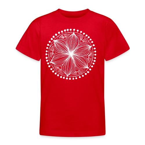 White Frankie Mandala - Teenage T-Shirt