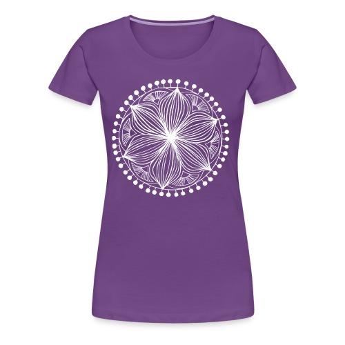 White Frankie Mandala - Women's Premium T-Shirt