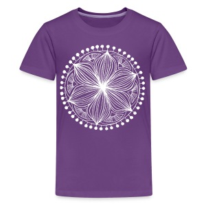 White Frankie Mandala - Teenage Premium T-Shirt