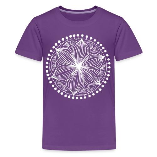 White Frankie Mandala - Teenage Premium T-Shirt