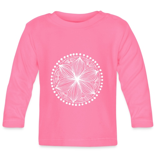 White Frankie Mandala - Baby Long Sleeve T-Shirt