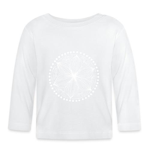 White Frankie Mandala - Baby Long Sleeve T-Shirt