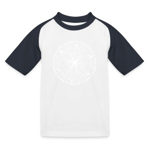 White Frankie Mandala - Kids' Baseball T-Shirt