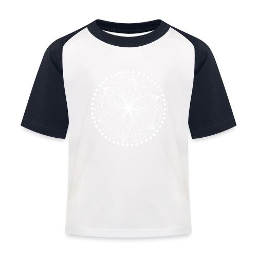 White Frankie Mandala - Kids' Baseball T-Shirt