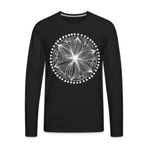 White Frankie Mandala - Men's Premium Longsleeve Shirt