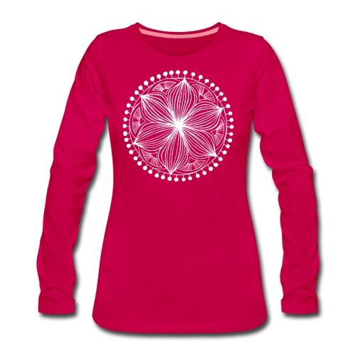 White Frankie Mandala - Women's Premium Longsleeve Shirt