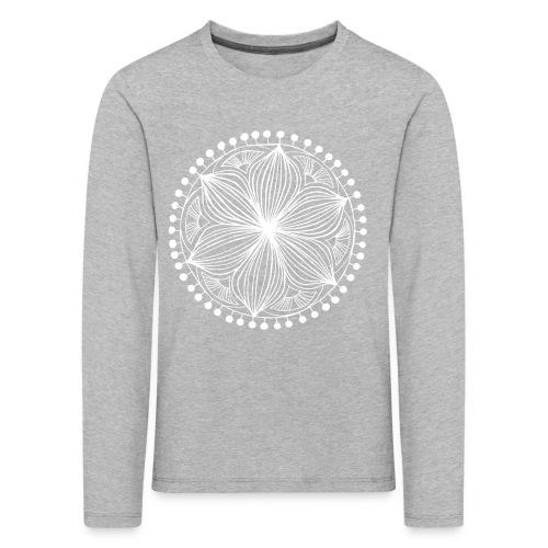 White Frankie Mandala - Kids' Premium Longsleeve Shirt